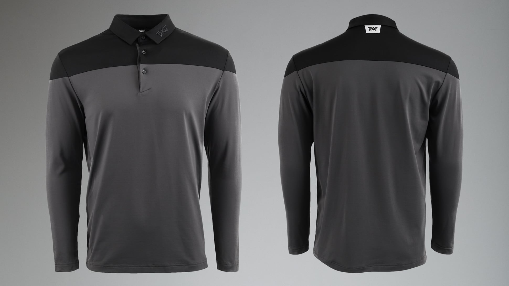 Long Sleeve Color Block Polo Image 2