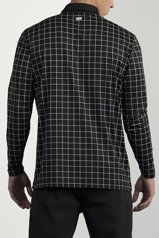 Long-Sleeve Checkered Polo Image 4