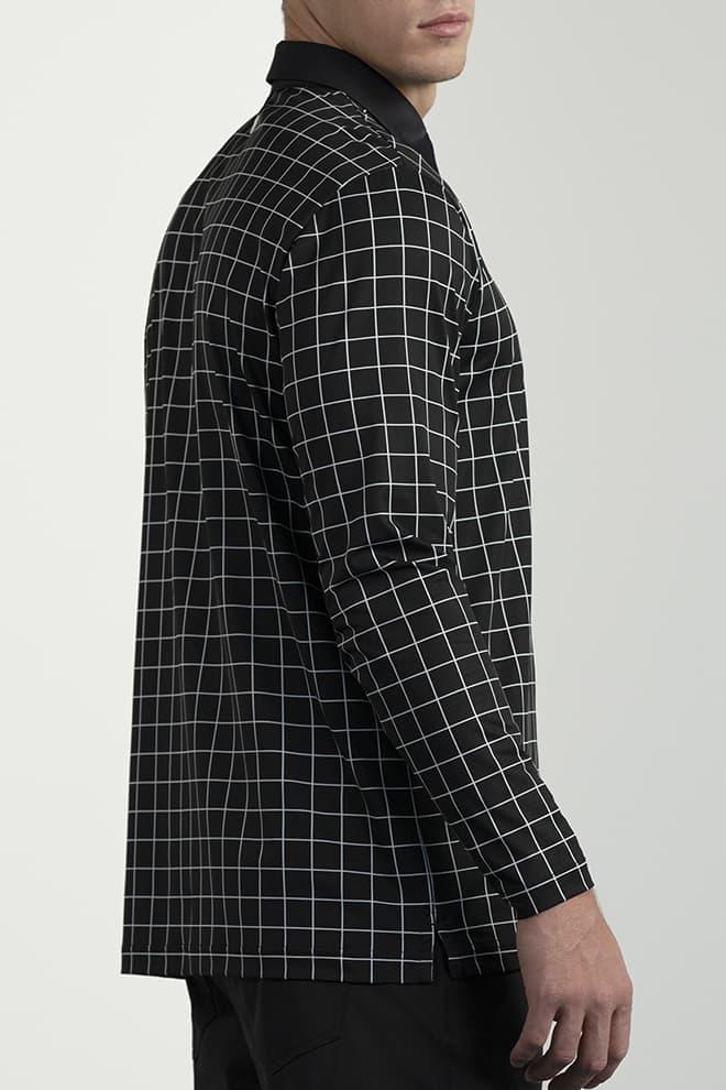 Long-Sleeve Checkered Polo Image 2