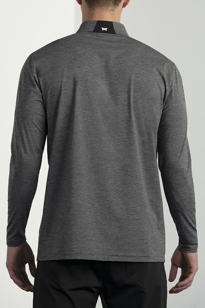 Long-Sleeve Collar Tab Polo Image 5