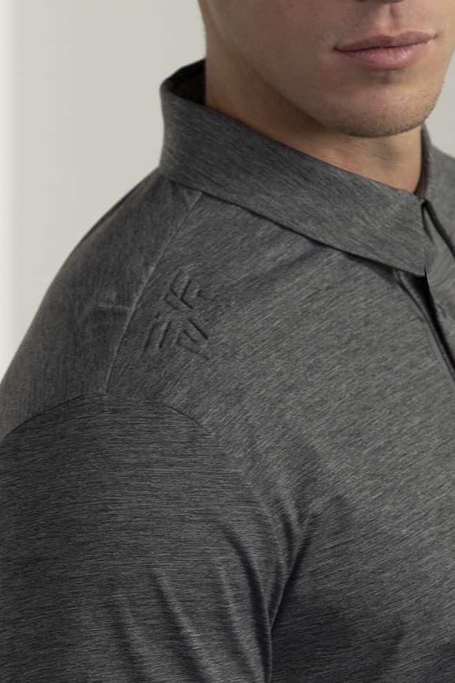 Long-Sleeve Collar Tab Polo Image 3