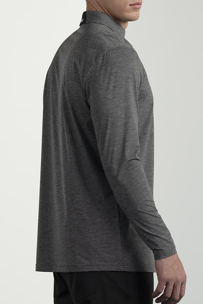 Long-Sleeve Collar Tab Polo Image 2