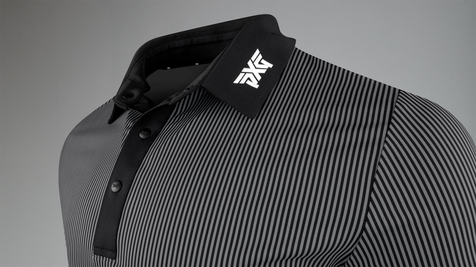 Athletic Fit Performance Pinstripe Polo Image 2