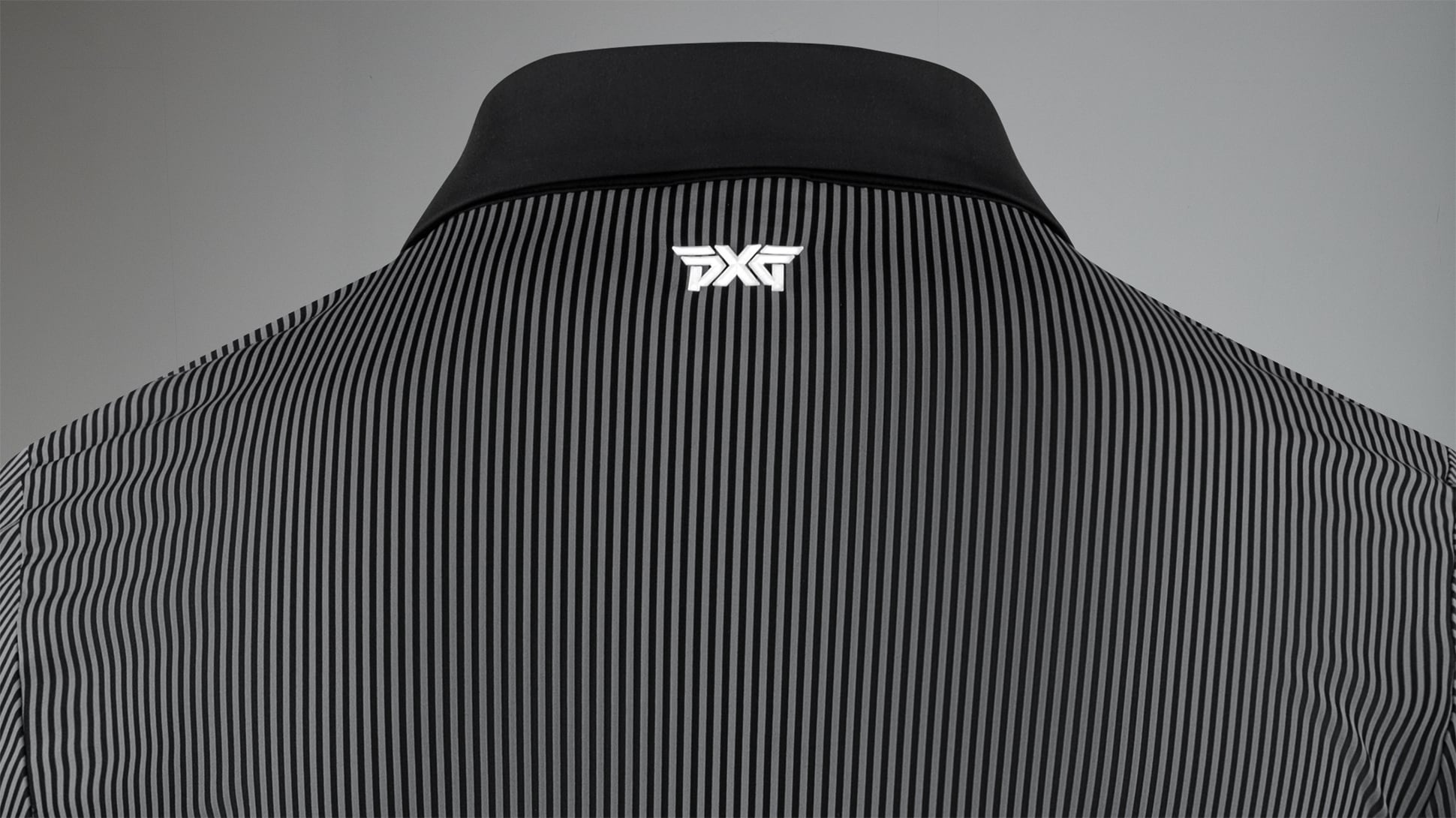 Athletic Fit Performance Pinstripe Polo Image 4