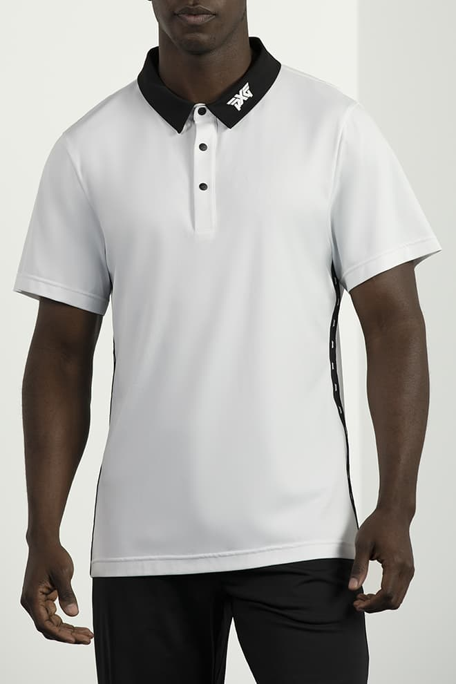 Athletic Fit Performance Stripe Polo Image 1