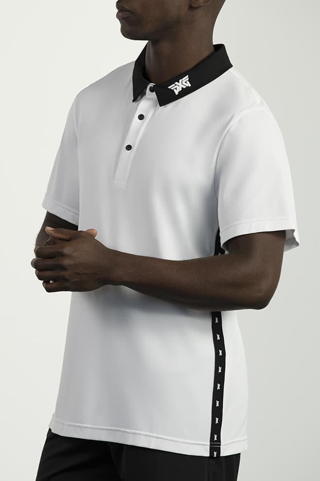 Athletic Fit Performance Stripe Polo Image 2