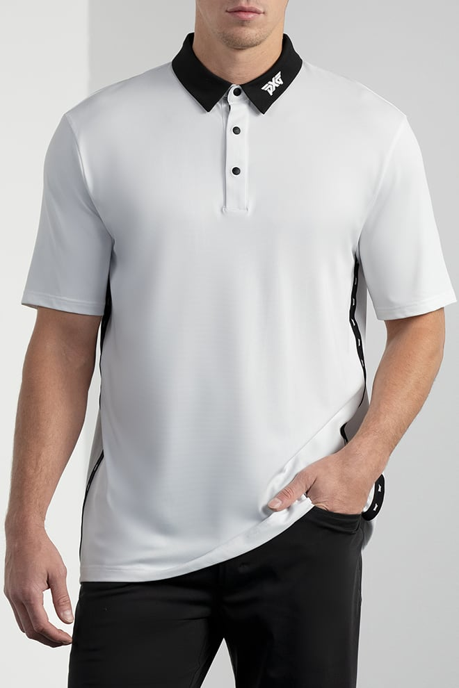 Comfort Fit Performance Side Stripe Polo Image 1