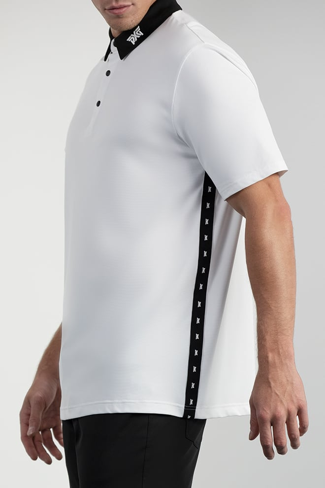 Comfort Fit Performance Side Stripe Polo Image 2