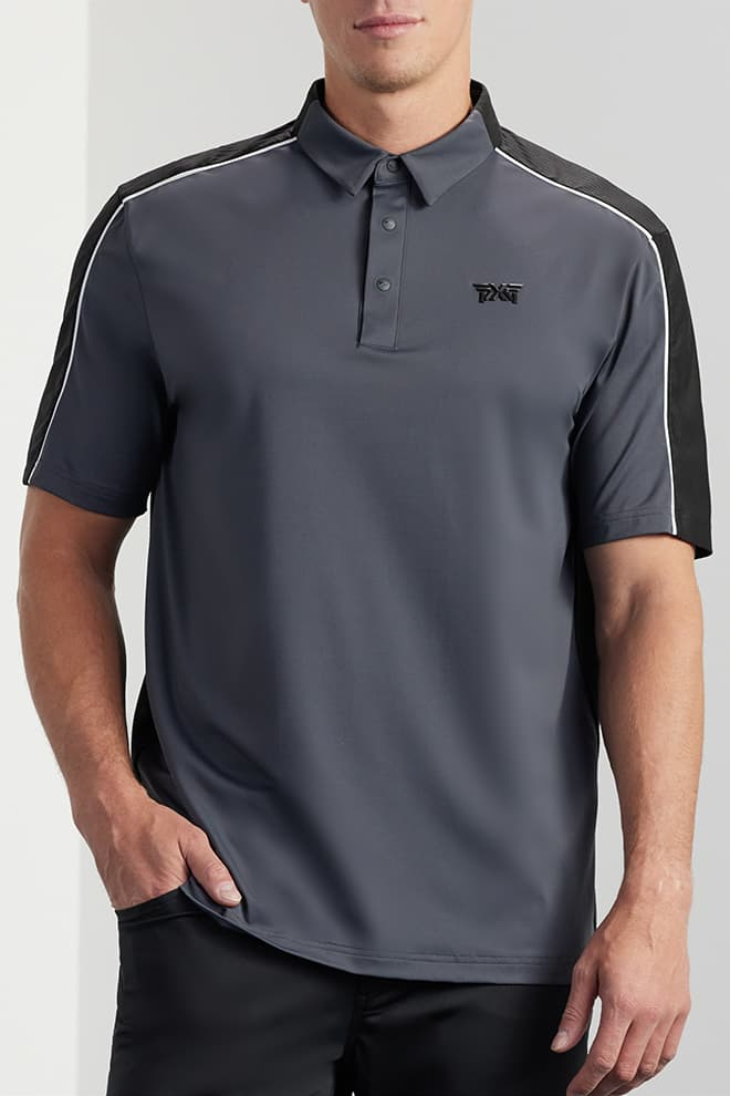 Comfort Fit Shoulder Block Polo Image 1