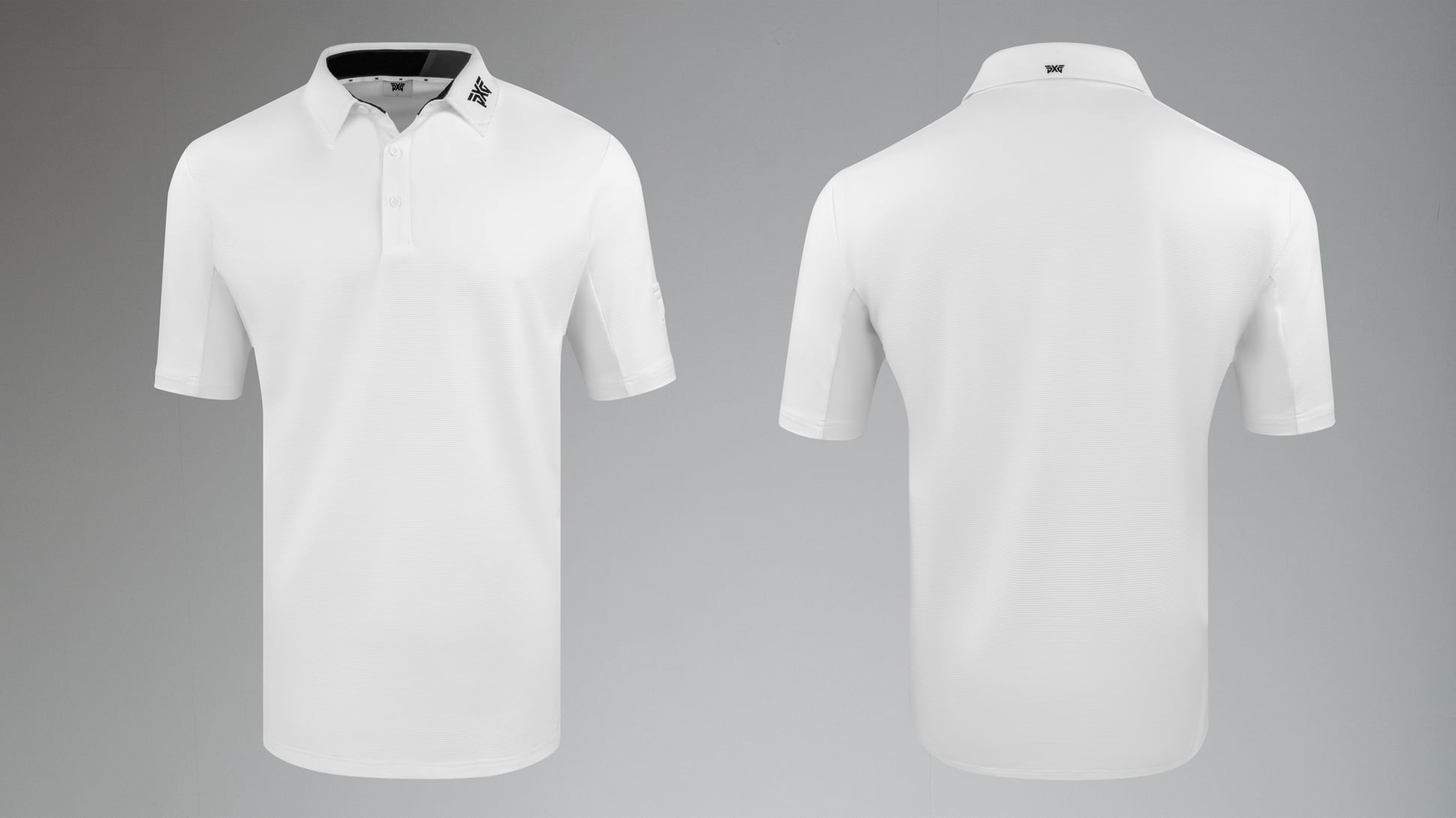 Textured Stretch Polo Image 1