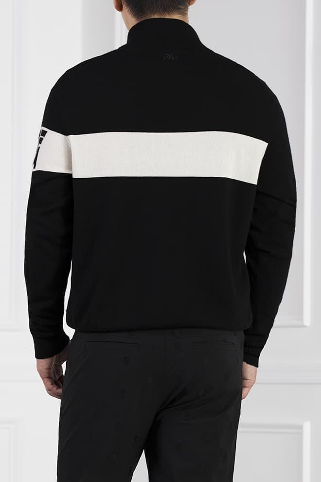 White Stripe 1/4-Zip Sweater Image 4