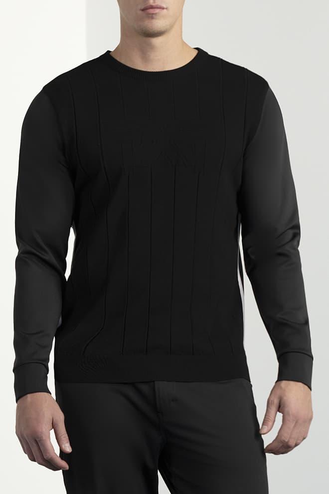 Hybrid Knit Collar Tab Pullover Image 1