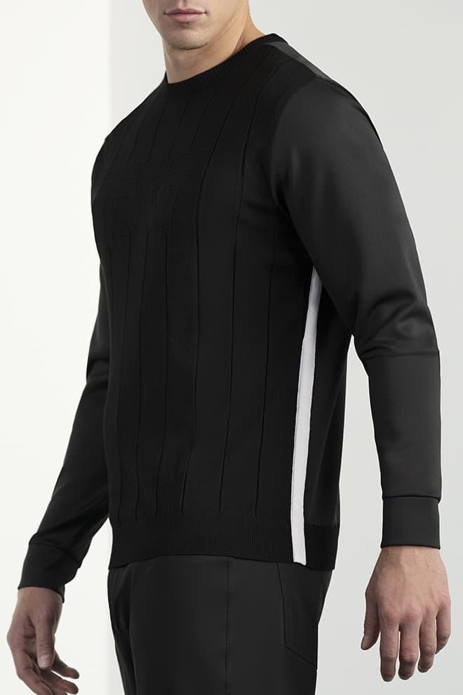 Hybrid Knit Collar Tab Pullover Image 3