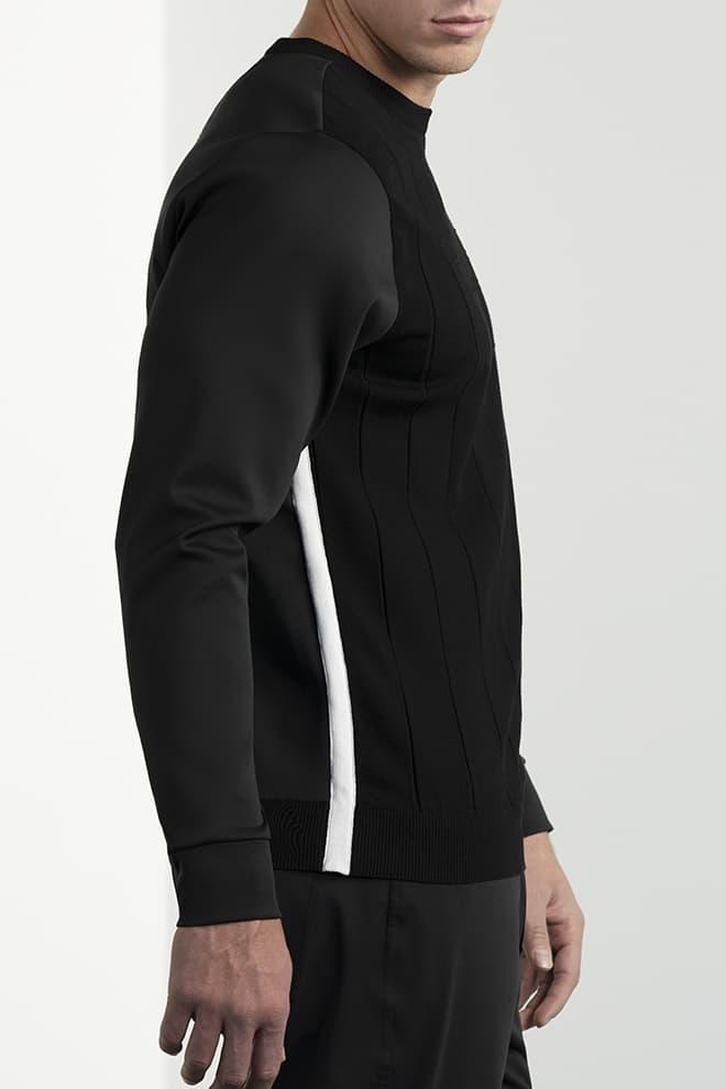 Hybrid Knit Collar Tab Pullover Image 2
