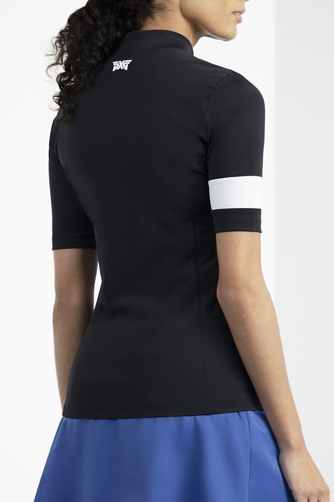 Banded Mock Neck Shirt Image 2