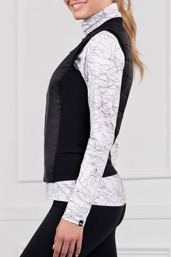 Quilted Core Hybrid Down Vest Image 2