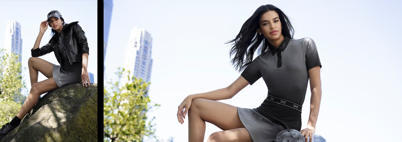 Women's Ombre Gray Polo, Women's Ombre Gray Skirt | PXG