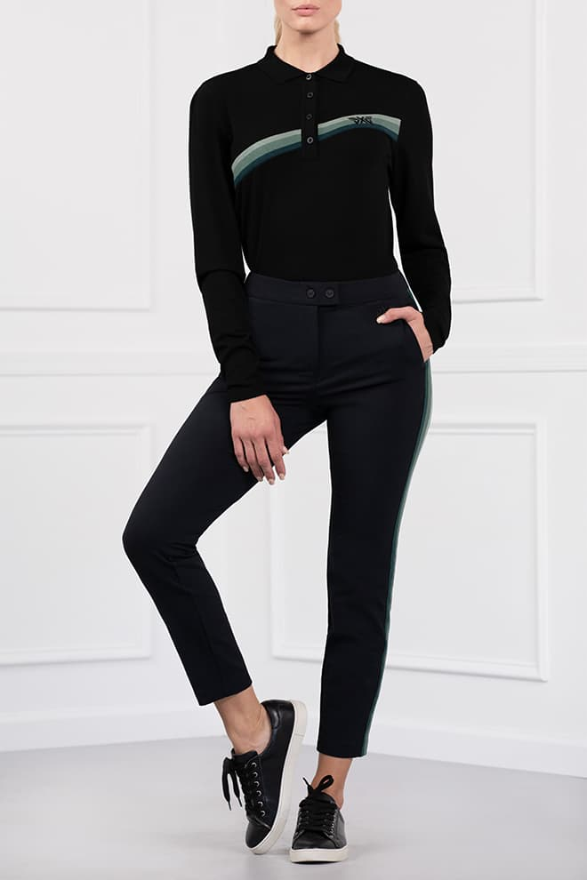 Three-Color Stripe Pants Image 1