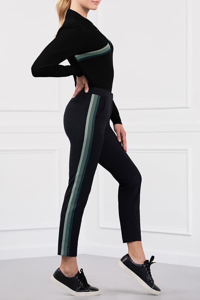 Three-Color Stripe Pants Image 2