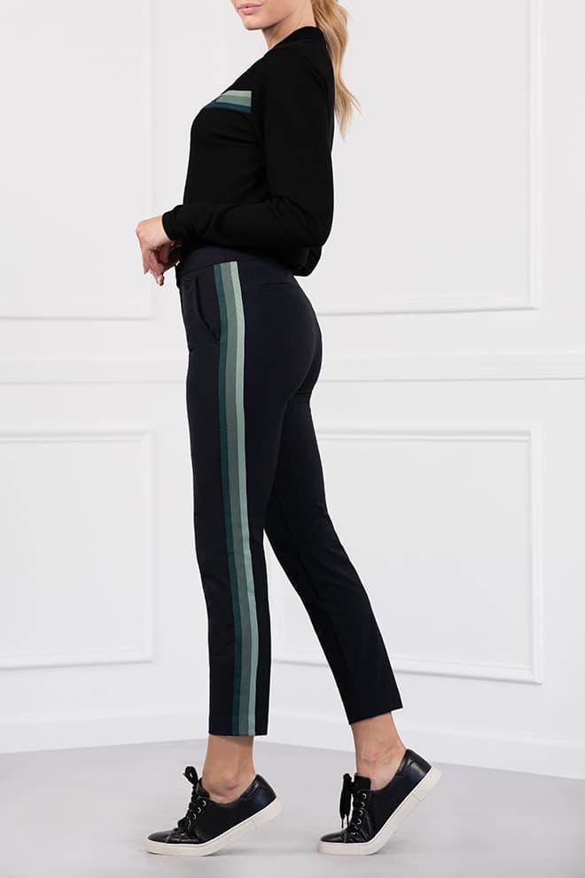 Three-Color Stripe Pants Image 3