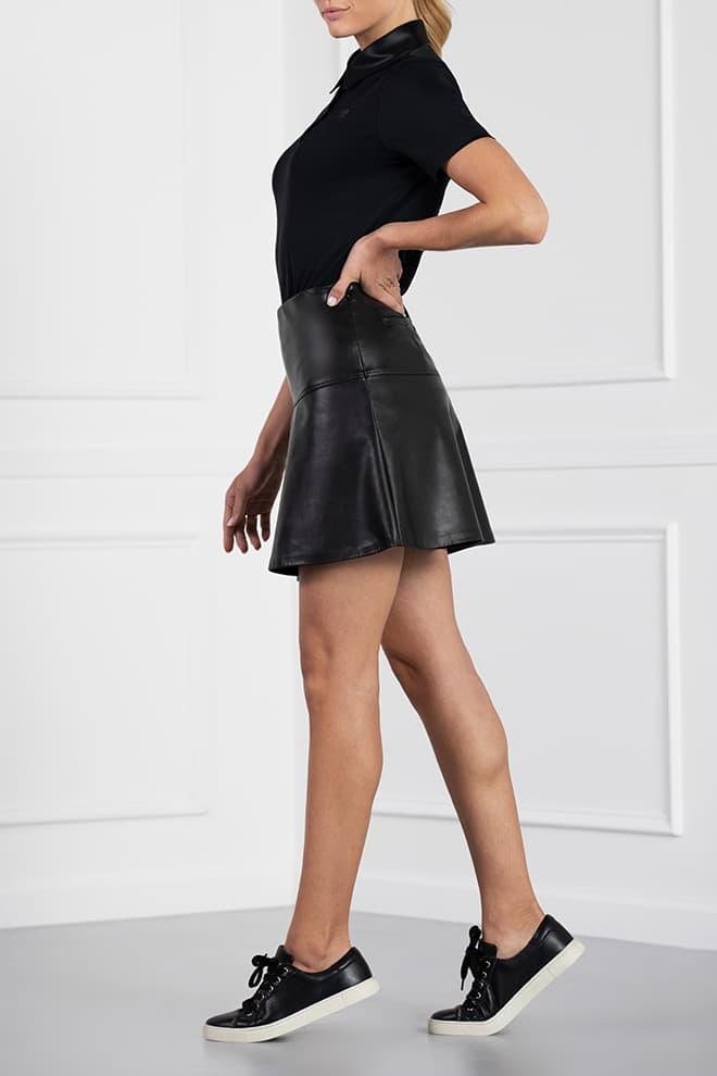 Eco-Leather Skirt Image 2
