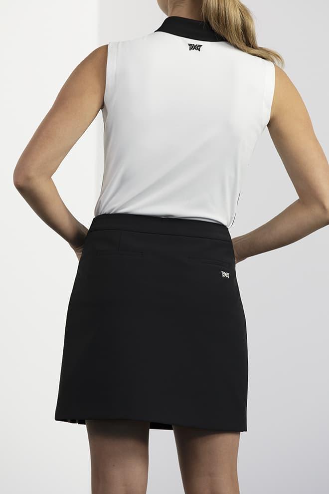 Side Slit Logo Tape Skirt Image 2