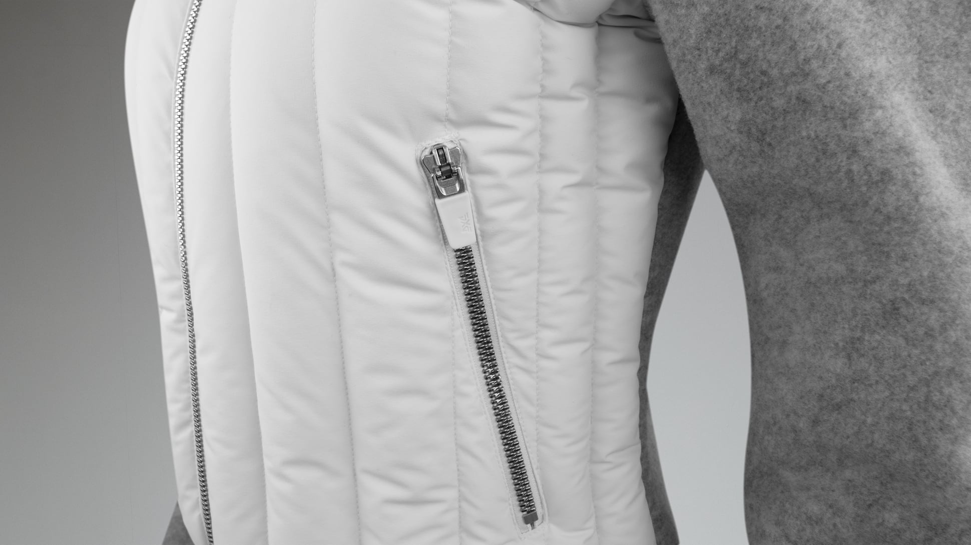 Fleece Hybrid Swing Down Jacket Image 3