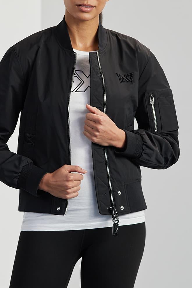 Signature Zip-Front Bomber Jacket Image 2