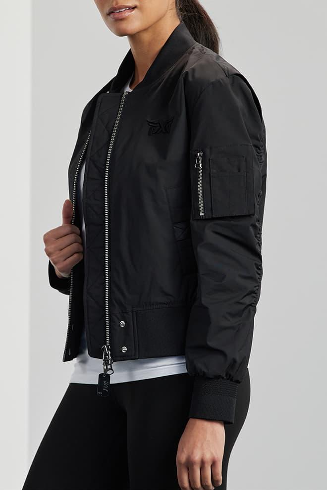 Signature Zip-Front Bomber Jacket Image 3