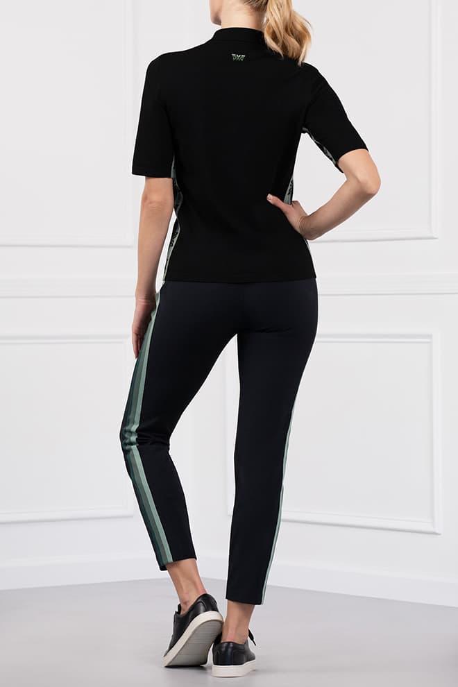 Three-Color Stripe Short Sleeve Polo Image 4