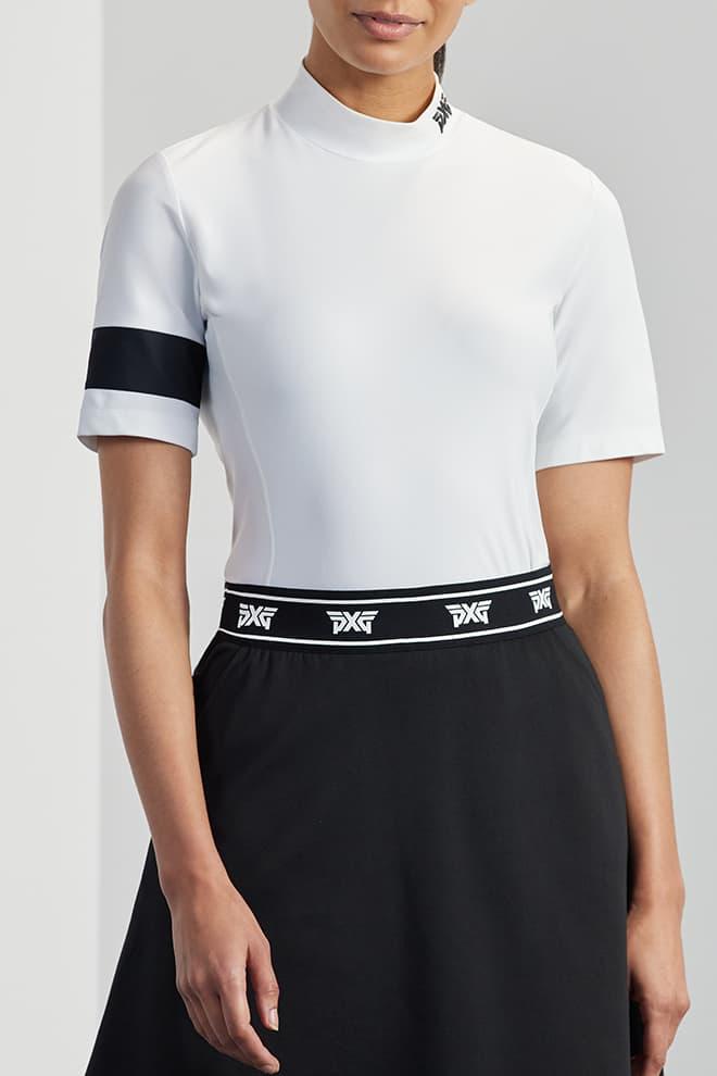 Banded Mock Neck Shirt Image 0