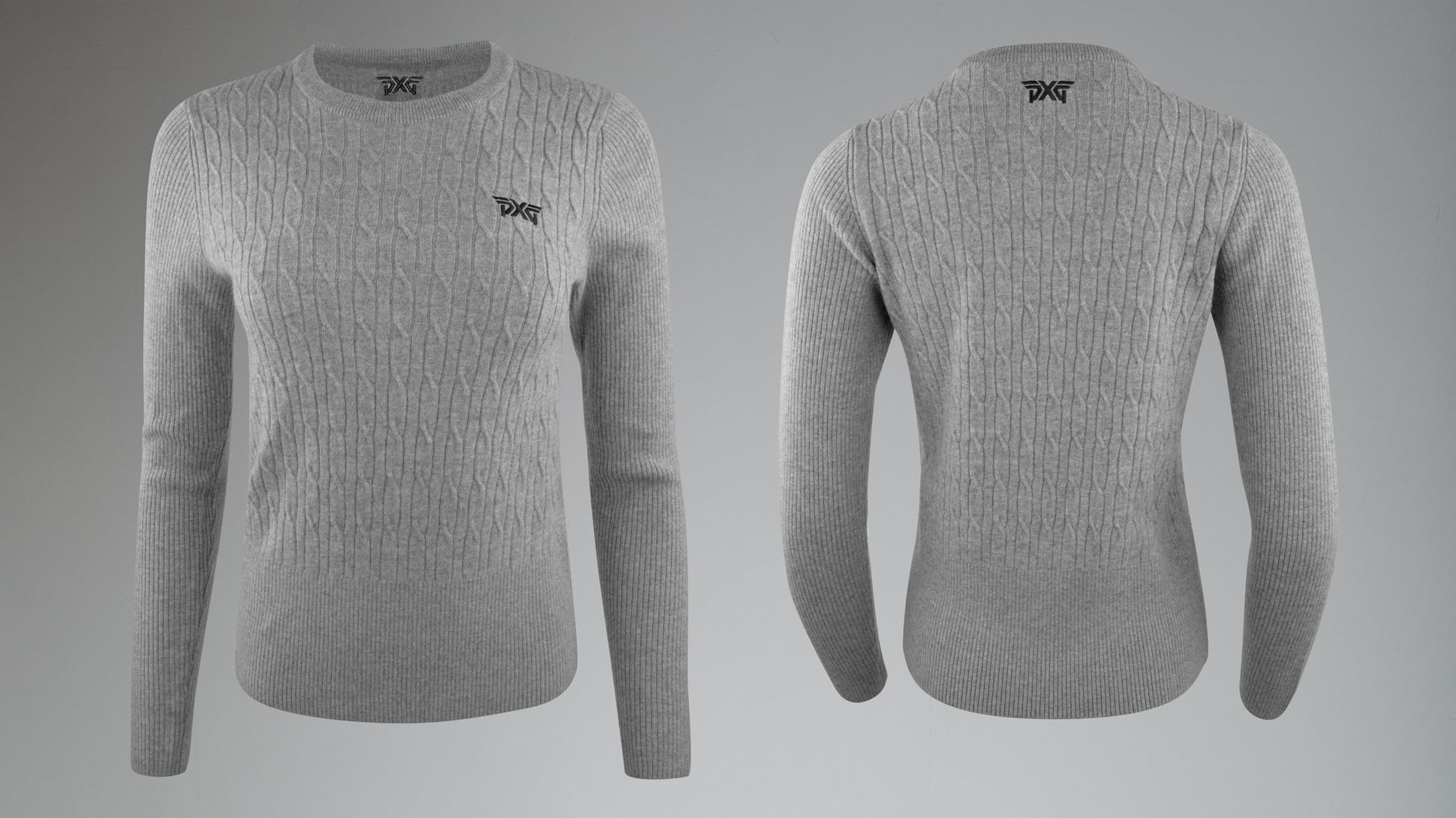 Cable Knit Wool Sweater Image 1