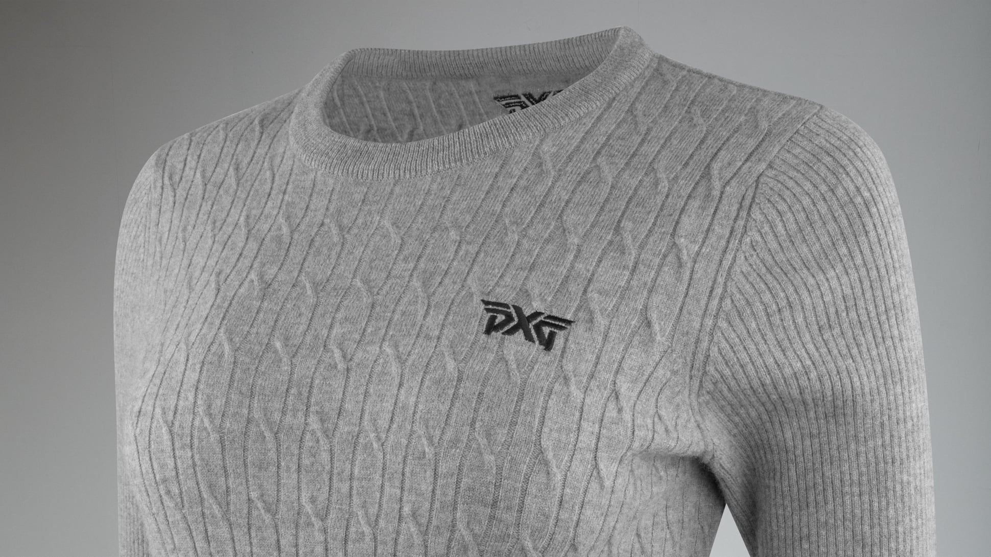 Cable Knit Wool Sweater Image 2