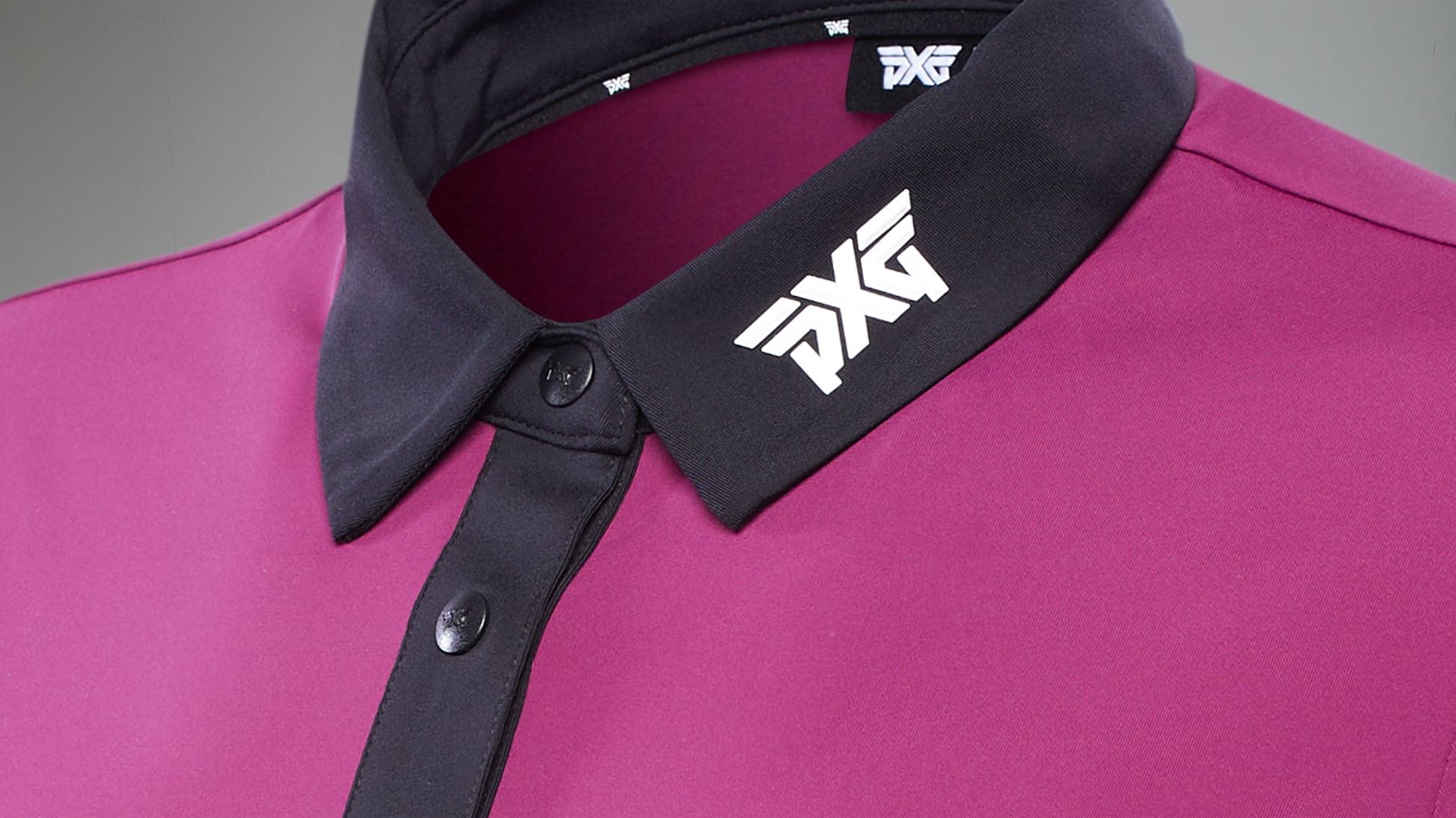 Royal Plum Black Collar Polo Image 2