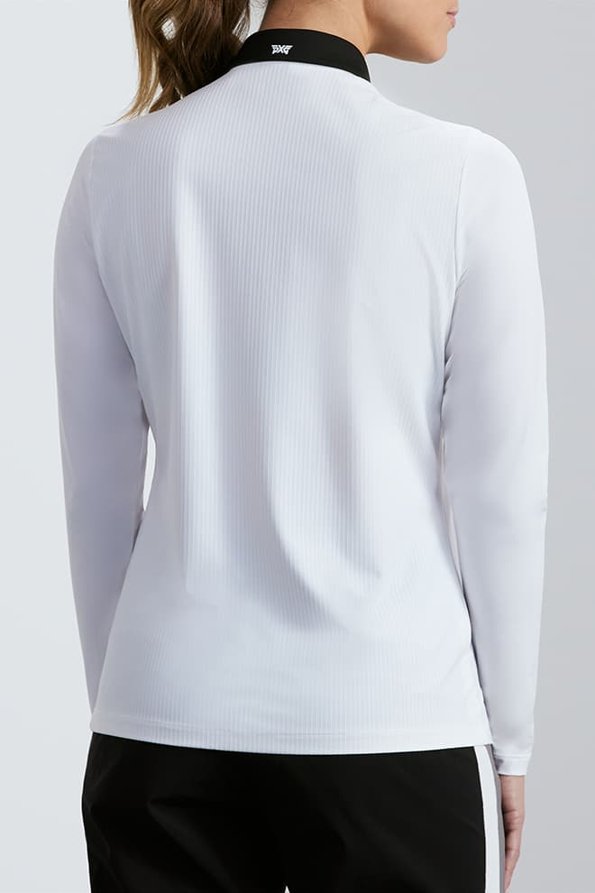 Taped Shoulder Long Sleeve Polo Image 3