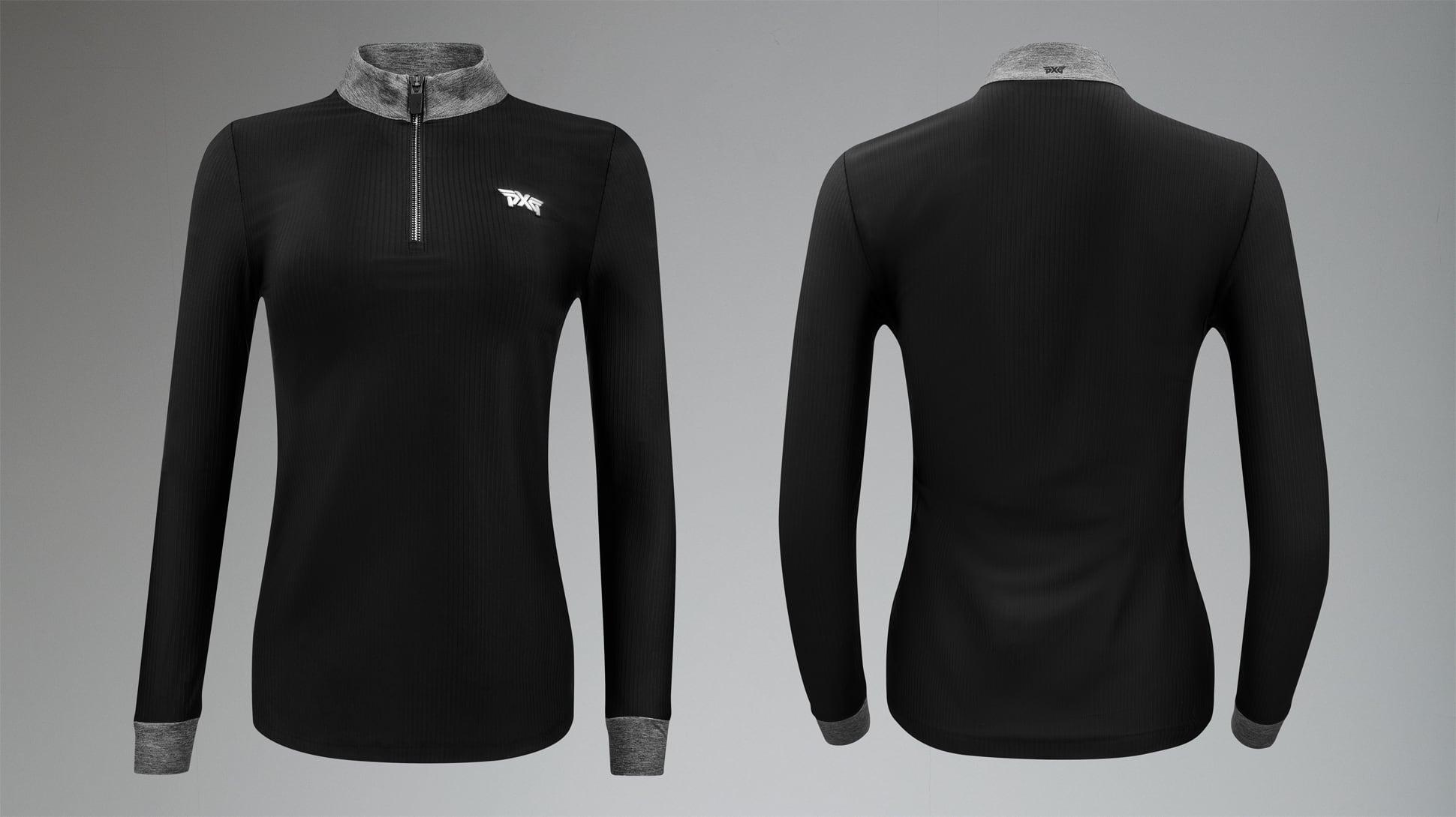 Zip Mock Neck Long Sleeve Shirt Image 1