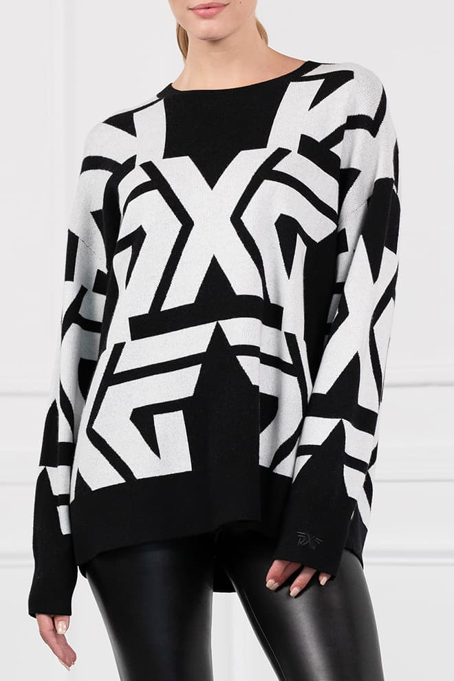 All-Over Bold Logo Sweater Image 1