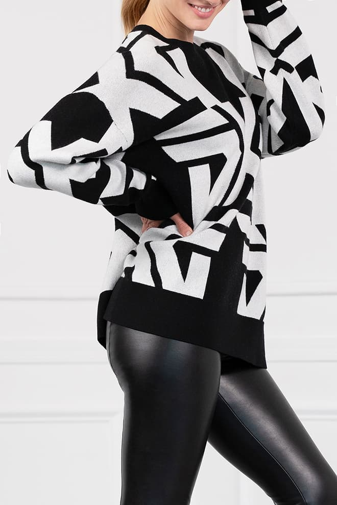 All-Over Bold Logo Sweater Image 2
