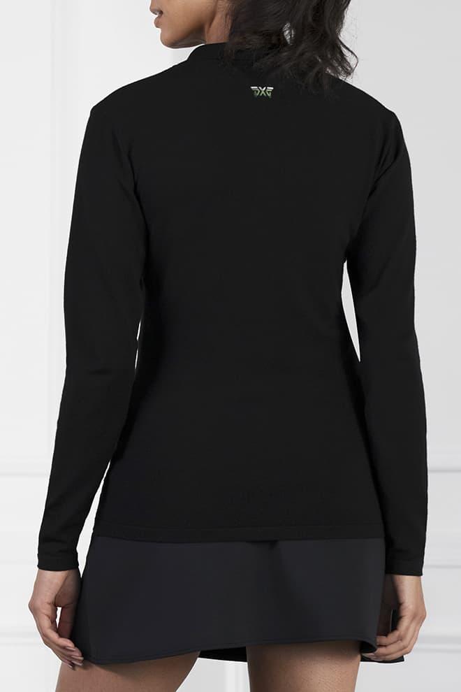 Three-Color Stripe Long Sleeve Sweater Image 4