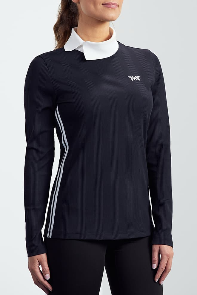 Asymmetric Collar Long Sleeve Shirt Image 2