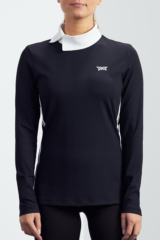 Asymmetric Collar Long Sleeve Shirt Image 1