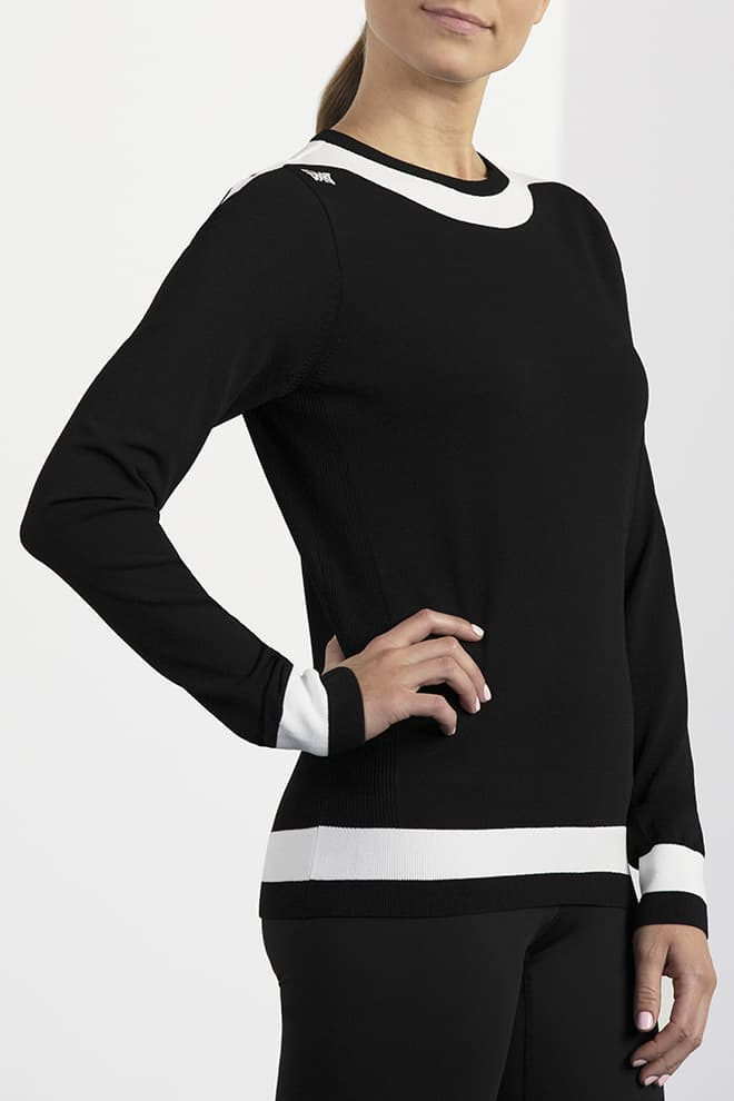 Boat Neck Sweater Image 2