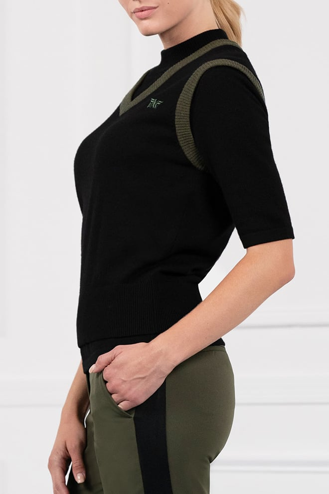 Two-Tone Sweater Vest Image 2