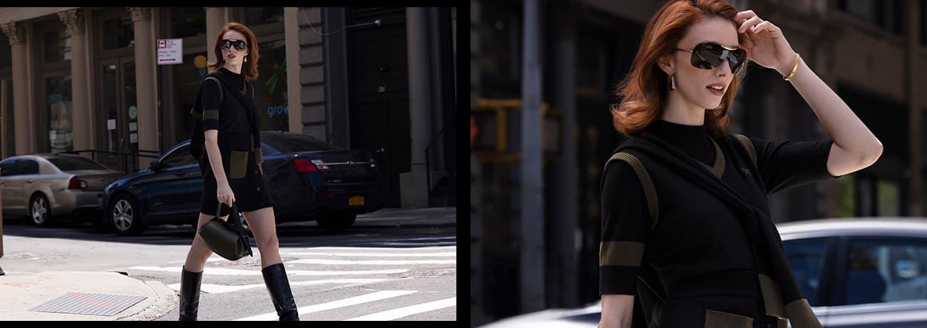 Model wearing PXG women's apparel