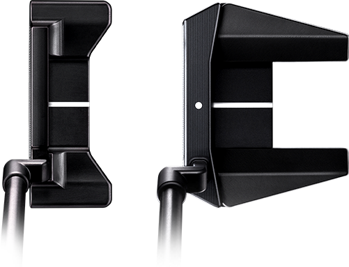 top and side putter view
