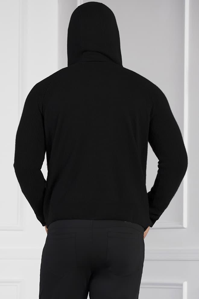 Full-Zip Cashmere Hoodie Image 4
