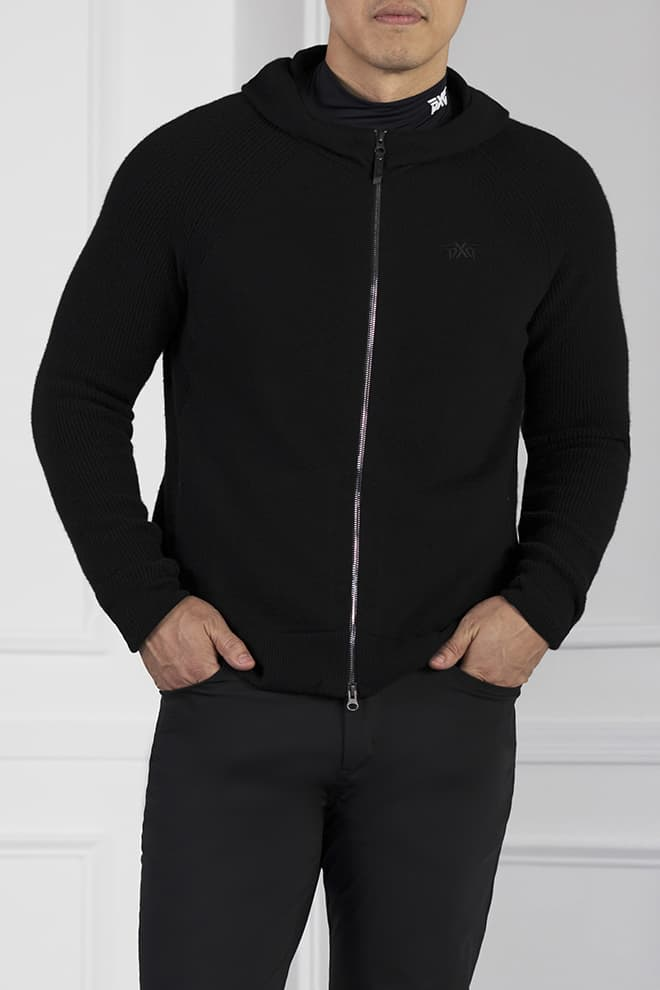 Full-Zip Cashmere Hoodie Image 1