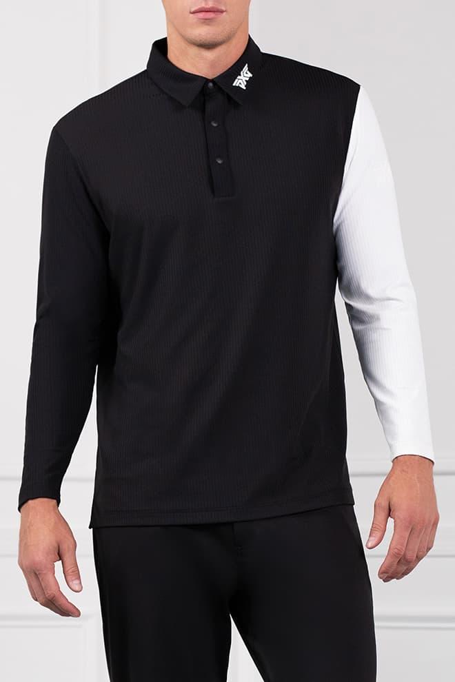 Long Sleeve Block Sleeve Polo Image 1