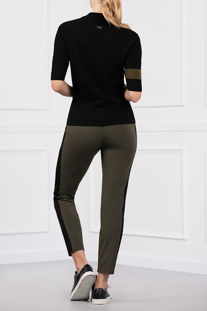 Two-Tone Mock Neck Sweater Image 3