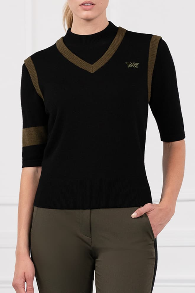 Two-Tone Sweater Vest Image 1